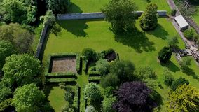 Walled Garden in Ireland. Walled Garden at Glenarm County Antrim in Northern  Ireland royalty free stock photos