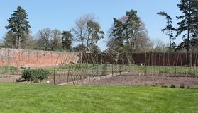 Walled Kitchen Garden. Stock Photo