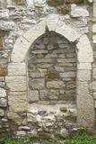 A walled medieval window at the Eckartsburg castle Royalty Free Stock Photos