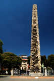 Walled Obelisk. The Walled Obelisk, also known as the Constantine Obelisk, is situated near the Serpentine Column at the southern side of the Hippodrome of Royalty Free Stock Image
