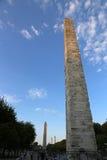 Walled Obelisk at Dusk Royalty Free Stock Images