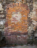Walled Old Door Royalty Free Stock Photography
