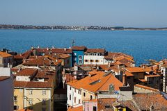 Walled town Piran Royalty Free Stock Photos