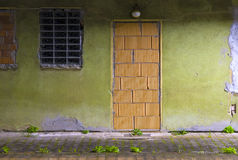 Walled up door royalty free stock images