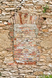 Walled-up window Stock Images