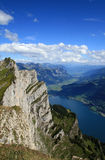 Wallensee view from the top Stock Photography