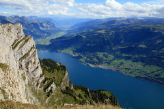 Wallensee view from the top Stock Photos
