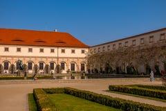 Wallenstein庭院在布拉格,捷克 库存照片