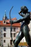 Wallenstein庭院,布拉格,捷克共和国 库存照片