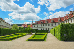 Wallenstein庭院Valdstejnska Zahrada,布拉格,捷克美丽的景色  库存图片
