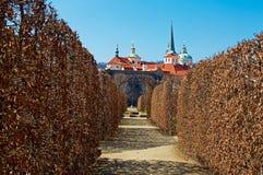 Wallenstein garden. Baroque garden in Prague. Horizontal position Stock Photo