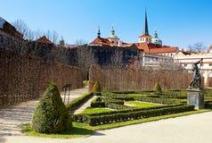 Wallenstein garden. Baroque garden in Prague. Horizontal position Royalty Free Stock Images