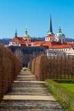 Wallenstein garden. Baroque garden in Prague. Verticall position Royalty Free Stock Photography