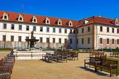 Wallenstein garden. Fountain in Baroque garden. Horizontal position royalty free stock images