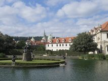 Hercules fountain, Wallenstein Garden, Prague Royalty Free Stock Photo