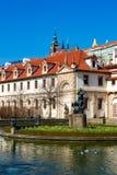 Wallenstein garden. Pond in the Baroque garden in Prague. Verticall position Stock Images