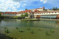 Wallenstein garden in Prague stock photos