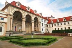 Wallenstein pałac w Praga obecnie stwarza ognisko domowe senat republika czech Obrazy Stock