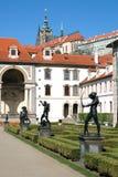 Wallenstein Palace Gardens below the Prague Castle Royalty Free Stock Image