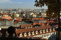 Wallenstein Palace, Panorama, Prague Castle, Prague, Czech Republic Stock Photos