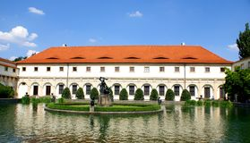 Wallenstein Palace Prague and his garden Stock Photos