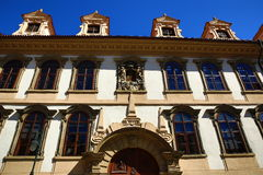 ,the Wallenstein Palace, which was established as the seat of the Senate of the Parliament of the Czech Republic Stock Image