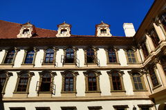 ,the Wallenstein Palace, which was established as the seat of the Senate of the Parliament of the Czech Republic Stock Images
