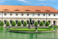 Wallenstein Riding Hall in baroque garden, Prague, Czech Republi Royalty Free Stock Photos