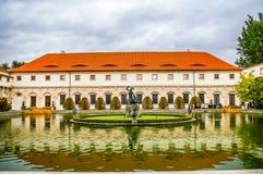 Wallenstein slott Prague Arkivbild