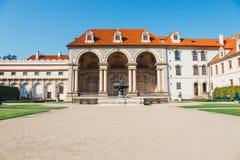 Wallensteinpaleis momenteel het huis van de Tsjechische Senaat in Praag Stock Afbeelding