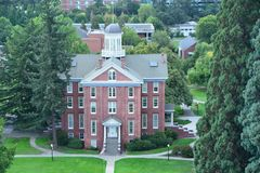 Waller Hall of Willamette University, Salem, Oregon. Waller Hall is the oldest building on the campus of Willamette University in Salem, Oregon, United States stock image