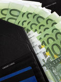 Wallet. A wallet with credit card and cash Royalty Free Stock Photo