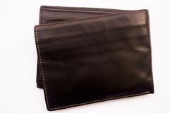 Wallet. A brown wallet on a white background stock image