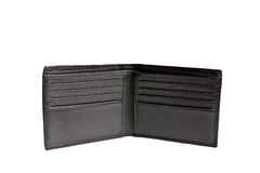 Wallet. Empty wallet isolated on white close up look Royalty Free Stock Images