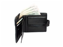 Wallet. With dollars on a white background Stock Image