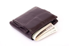 Wallet. With money isolated on white background royalty free stock photos