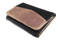Wallet. Placed over white surface Stock Images