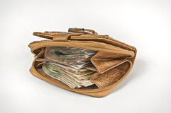 Wallet. The cash in your wallet Royalty Free Stock Photos