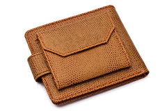 Wallet. Brown wallet isolated on white background Royalty Free Stock Images