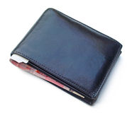 Wallet. Black wallet with euro money inside Stock Photo