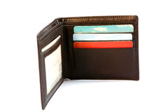 Wallet. With cards on white backgound Royalty Free Stock Image