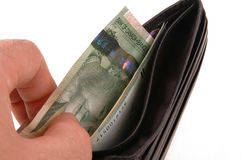 Wallet. And money royalty free stock photography