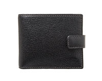 Wallet. Black wallet isolated over white Stock Photo