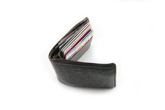 Wallet. Leather wallet royalty free stock photography