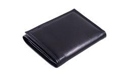 Wallet. Black wallet isolated in white background Stock Photography