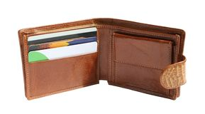 Wallet. Open wallet on a white background Stock Image