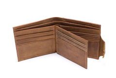 Wallet. Open Empty Wallet on White Background Royalty Free Stock Image