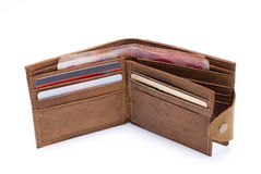 Wallet. With the RMB and credit card wallet Royalty Free Stock Photography