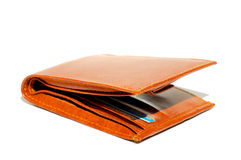 Wallet. Leather wallet isolated on white Stock Image