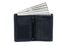 Wallet with American dollars Stock Photography